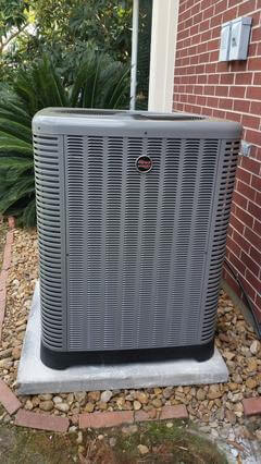 Ruud Equipment Outside Condenser AMS Katy AC and Heating Job Photo