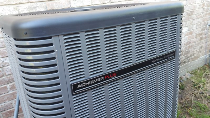Ruud Equipment AC Condenser Outside Completed Job - Achiever Plus