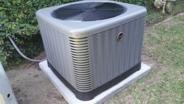 Ruud Equipment AC Condenser Outside Completed Job