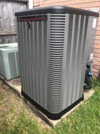 Ruud Equipment AC Condenser Outside Completed Job - Ultra High Efficiency Air Conditioner